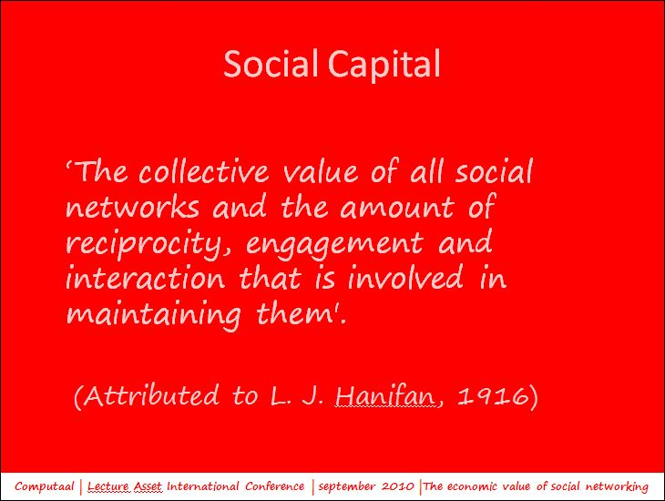 The definition of social capital