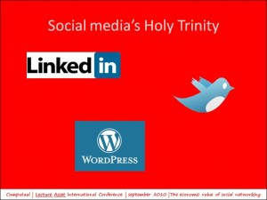 slide5: the Holy Trinity of social media