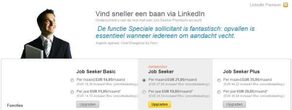 Het LinkedIn Job Seeker account